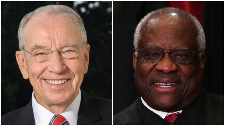 chuck Grassley and clarence thomas