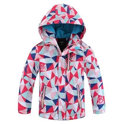 Hiheart Girls Boys Waterproof Fleece Lining Jacket