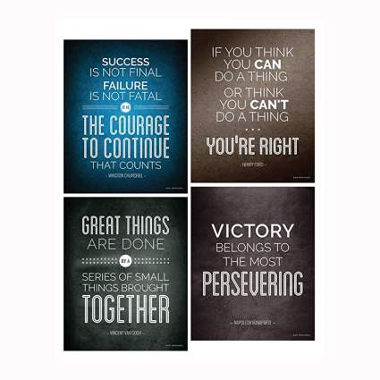 set of Historical quote motivational posters