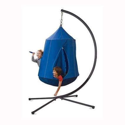 nylon hanging tent with lights