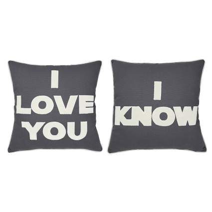 I Love You/I Know 2-Piece Pillow Case Set