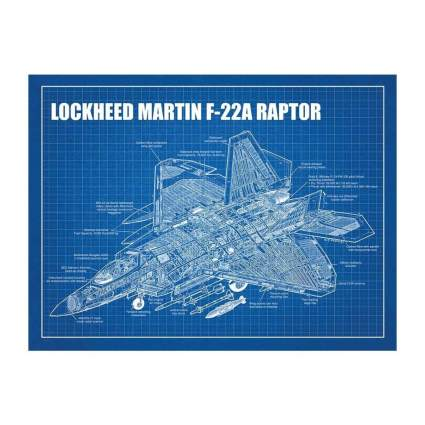 Inked and Screened f-22 print aviation gifts