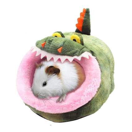 Crocodile shaped bed for rodent