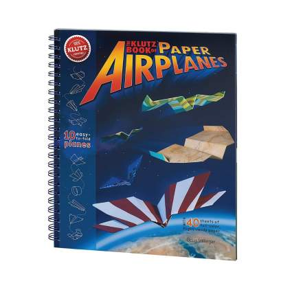 Klutz paper airplane book aviation gifts