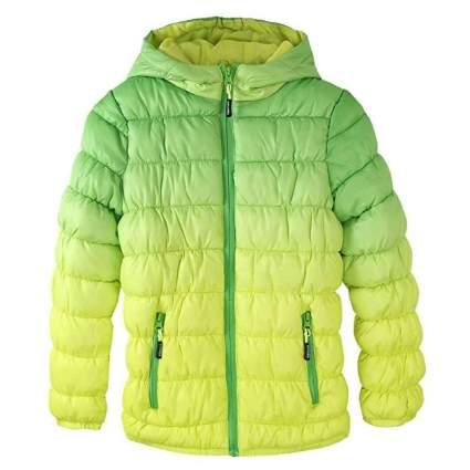 Krumba Girl's Zip Off Gradient Water Resistant Dip Dye Hooded Puffer Jacket