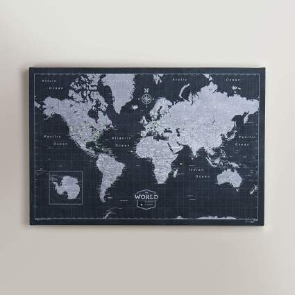 map of the world pin where you've been gifts for men under 100