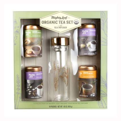 organic loose tea set with infuser bottle