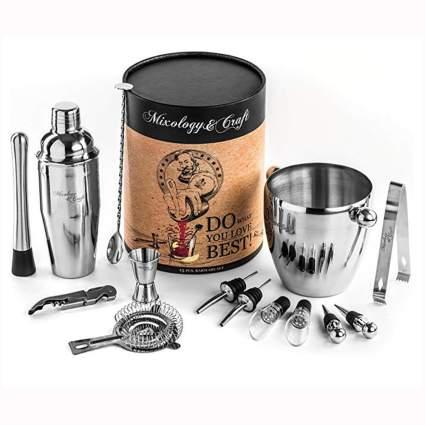15 piece stainless steel barware set