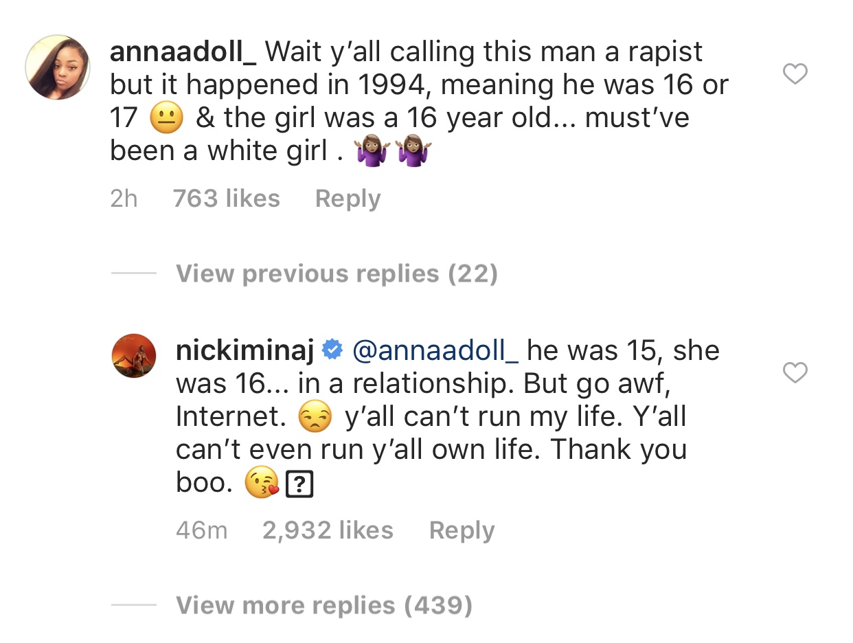 Nicki Minaj defends boyfriend