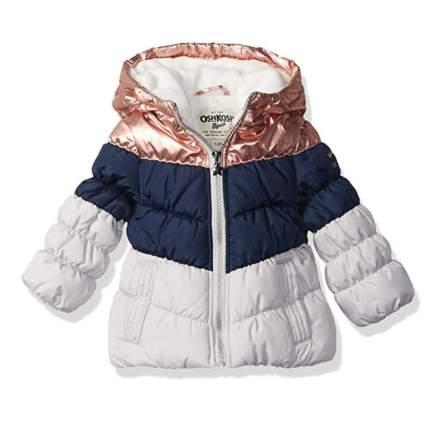 OshKosh B'Gosh Girls' Perfect Colorblocked Heavyweight Jacket Coat