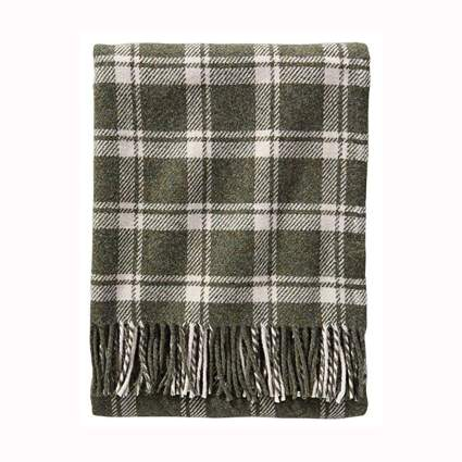 spruce plaid washable wool throw blanket