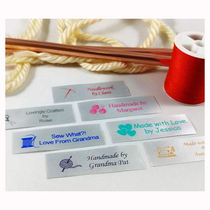 personalized sating sewing labels