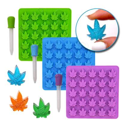 pot leaf silicone mold