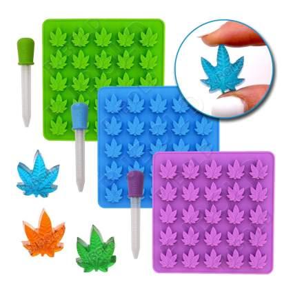 pot leaf silicone mold