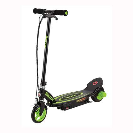 green and black razor electric scooter