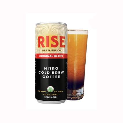 single serve Black nitro cold brew coffee