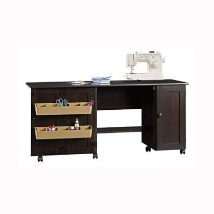 rolling sewing & storage desk