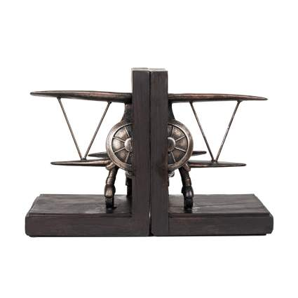 Roman plane bookends aviation gifts