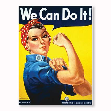 laminated rosie the riveter poster