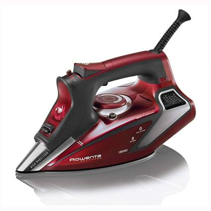 red rowenta professional steam iron