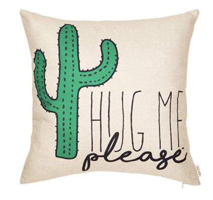 Please Hug Me Cactus Pillow