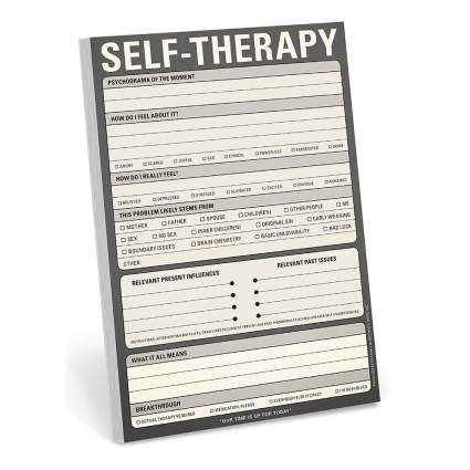 self therapy note pad