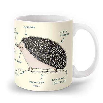Hedgehog mug from Society6