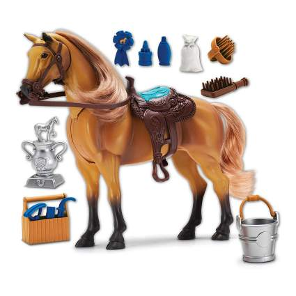 Toy horse with accessories