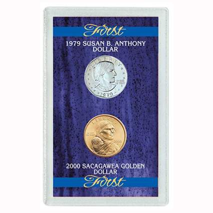 susan b anthony and sacagawea coin set