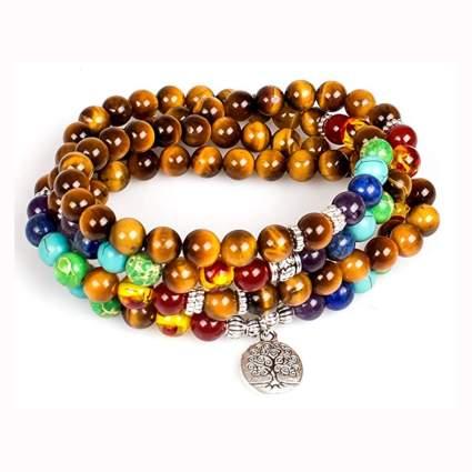 tree of life tiger's eye prayer bracelet