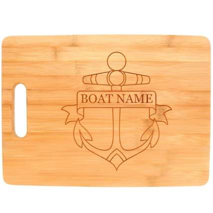 personalized anchor cutting board
