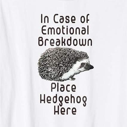 Cute hedgehog white tee shirt