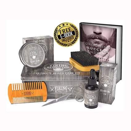 beard care kit with scissors
