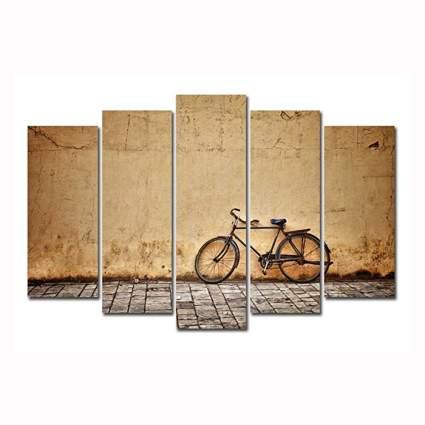 vintage bicycle canvas print set