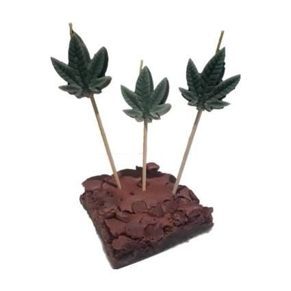 weed leaf candles
