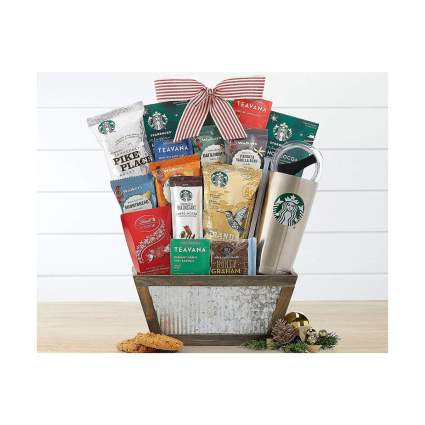 Wine Country Gift Baskets Starbucks Coffee and Teavana Tea Gift Basket