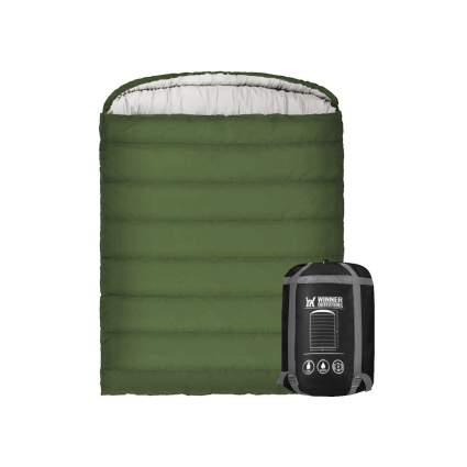 winner outfitters double sleeping bag