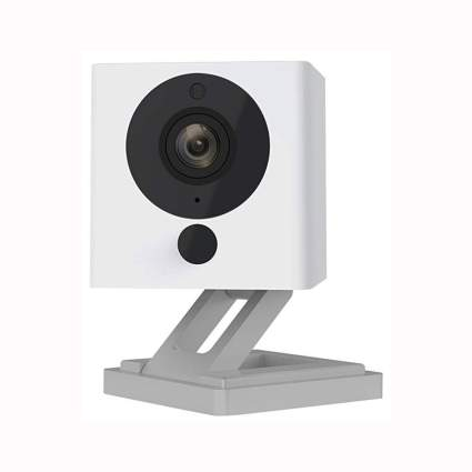 white wireless smart home camera