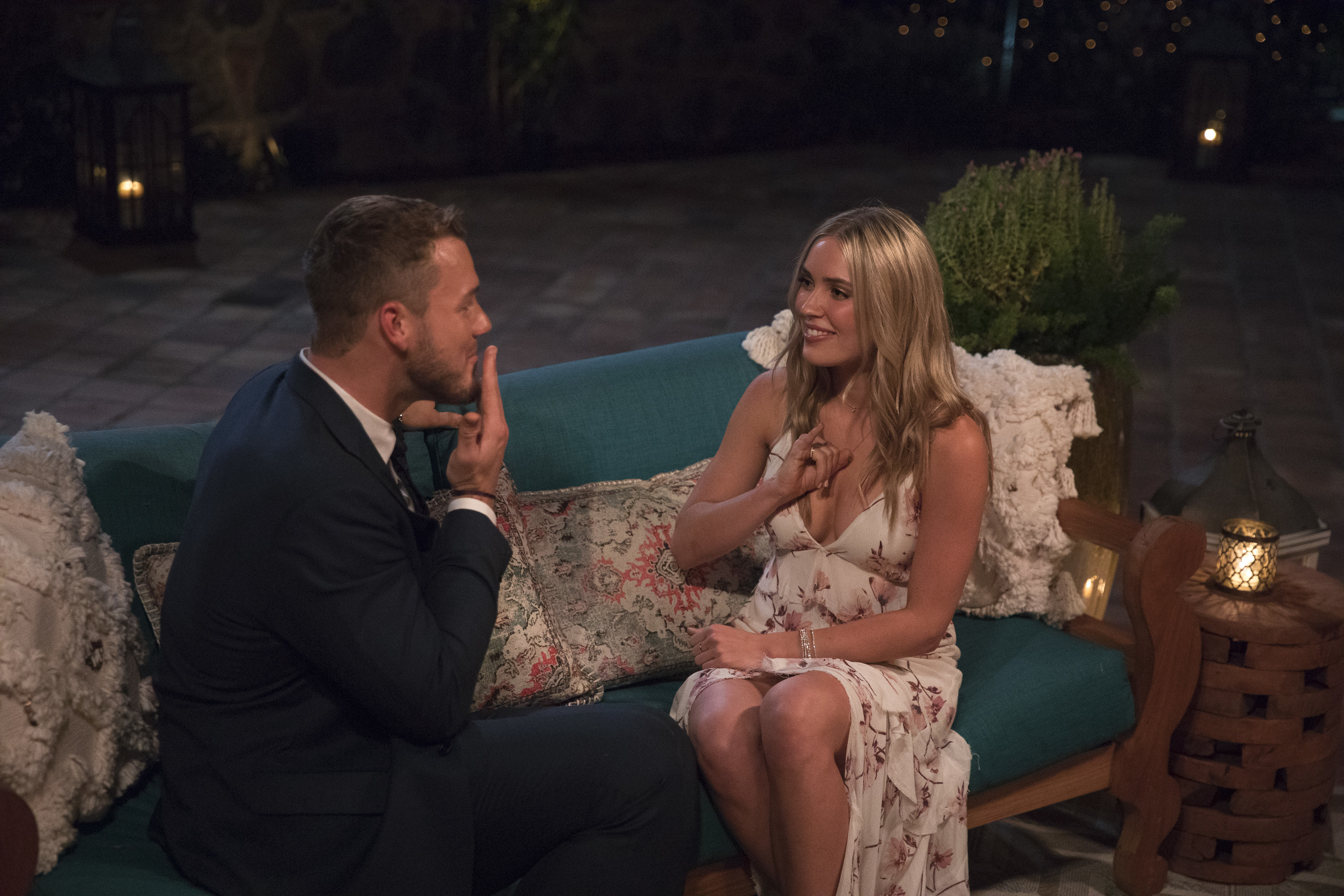 Cassie Randolph and Bachelor Colton Underwood