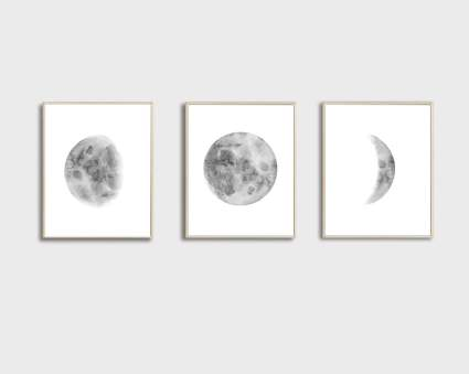 moon phases art