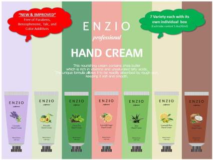 ENZIO Professional Grade Shea Butter Based Hand Cream Lotion Gift Set