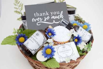 spa gift basket thank you