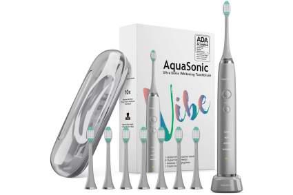 charcoal grey AquaSonic Vibe electric toothbrush