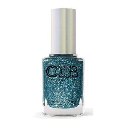 Blue color club nail polish bottle
