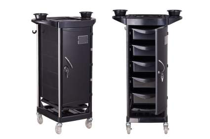 Locking salon trolley with drawers