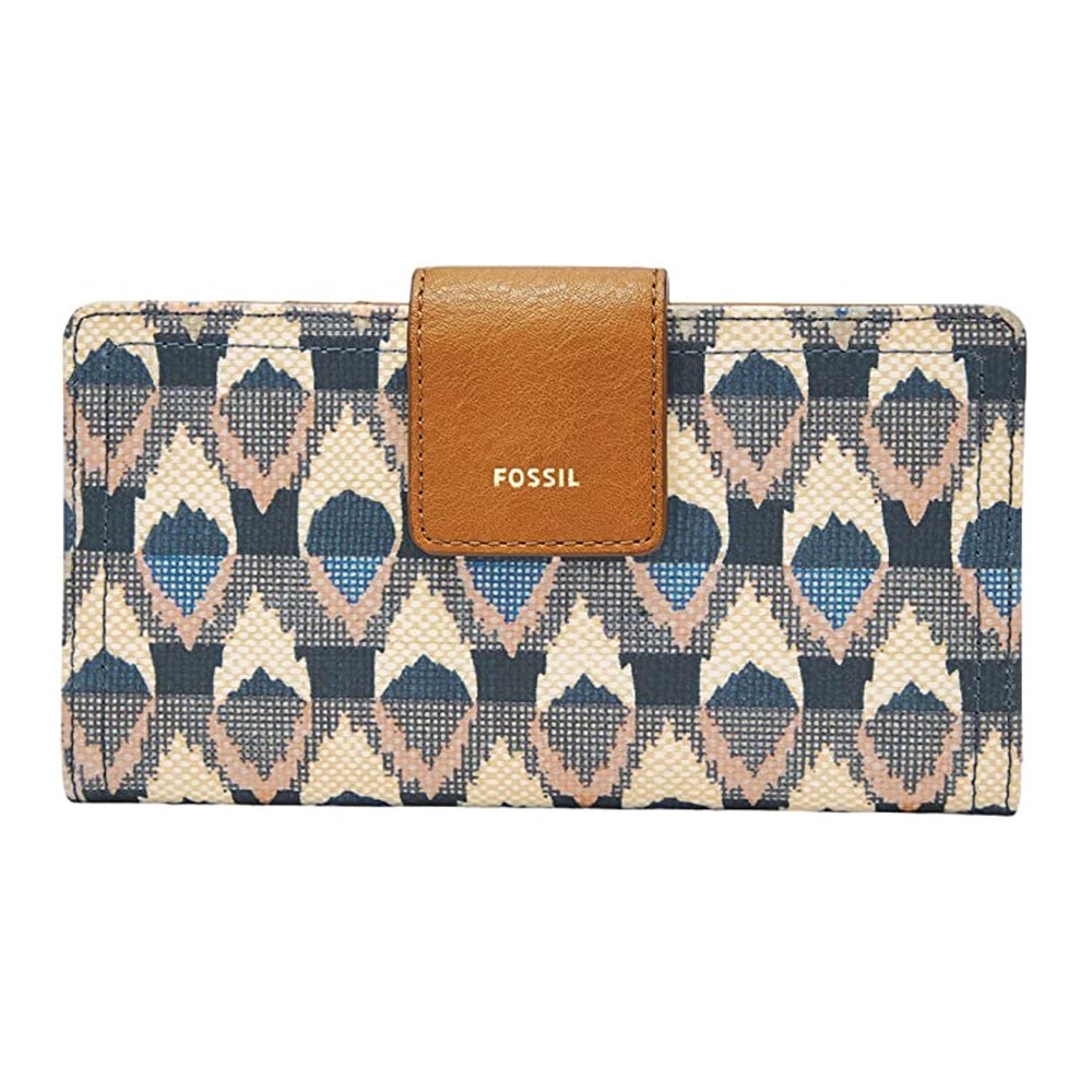 Personalized Swirls /& Floral Genuine Leather Small Framed Wallet