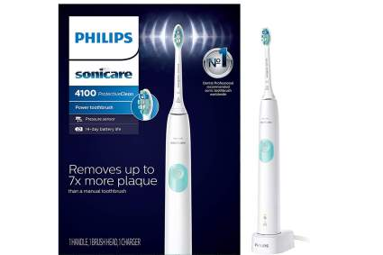 White Sonicare electric toothbrush with box