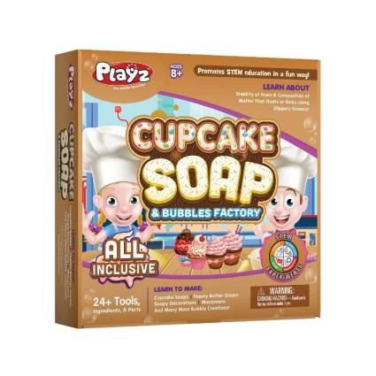 Playz Cupcake Soap & Bubbles DIY Science Kit