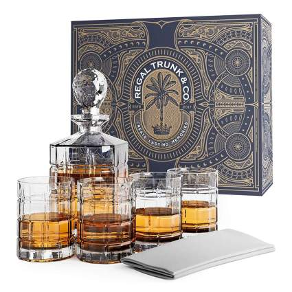 Fancy liquor decanter set