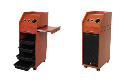 Cherry wood salon trolley